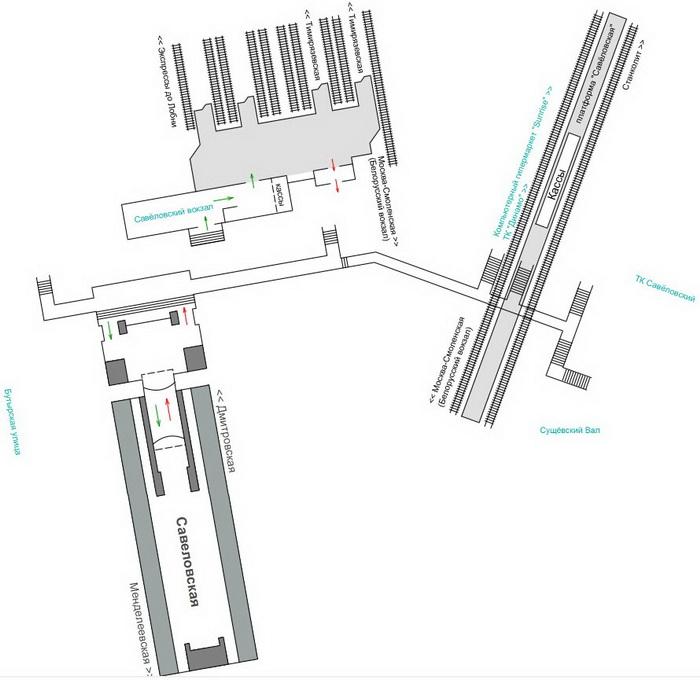 Схема станции комсомольская радиальная